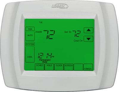 lennox touchscreen thermostat. lennox comfortsense 5000 touchscreen thermostat