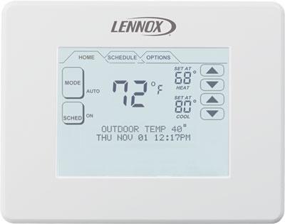 Lennox Comfortsense 7000 Touchscreen Thermostat North